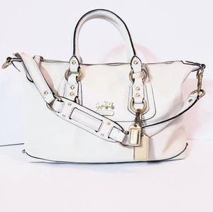 Coach F12937 Ivory Convertible Satchel Bag